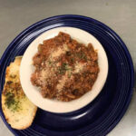 Try our spaghetti in meat sauce another of The Blue Plate daily specials.